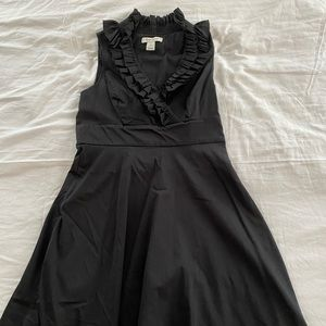 White House Black Market Ruffle A Line Dress